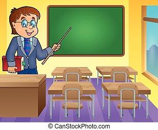 thema, man, 3, beeld, leraar