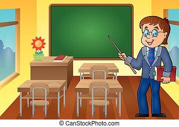 thema, man, leraar, beeld, 6