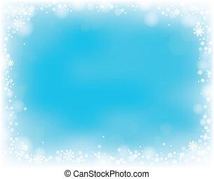 thema, sneeuwvlok, achtergrond, 4