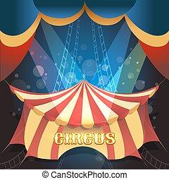 thema, zirkus, abbildung