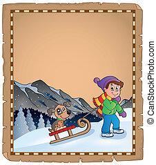 thematics, pergamena, inverno