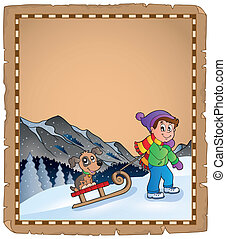 thematics, pergament, vinter