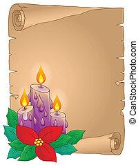 thematisch, 5, kerstmis, perkament