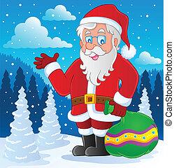 thematisch, beeld, claus, 4, kerstman