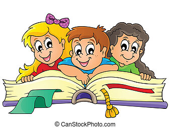 thematisch, bild, kinder, 5