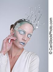 Themed Ice Queen Cosmetics on a Beautiful Woman