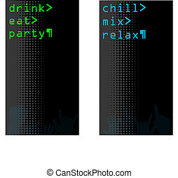 themed, kapy, jeden, komplet, komputerowy jadłospis, bar