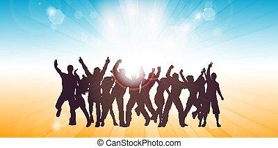 themed, persone, bandiera parte, ballo, estate, 2605