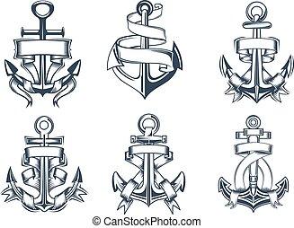 themed, tengeri, ikonok, hajó, gyeplő, vasmacska