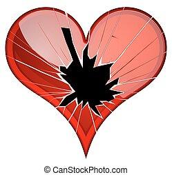 themes., arriba, interrupción, roto, aversión, hearts., ruptura, tristeza, quebrantado