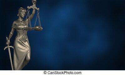 themis, 3d, tribunal, ilustración