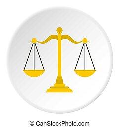 Themis libra icon circle