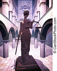 Themis the Justice symbol - statue in court