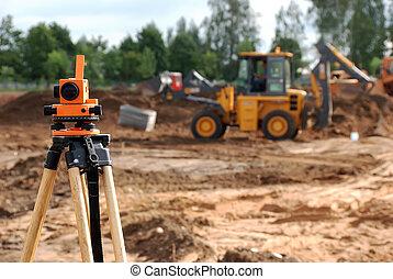 theodolite, site construction