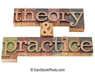 theorie, en, praktijk