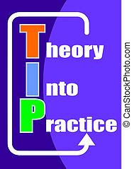 theorie, in, praktijk, -, fooi, acroniem