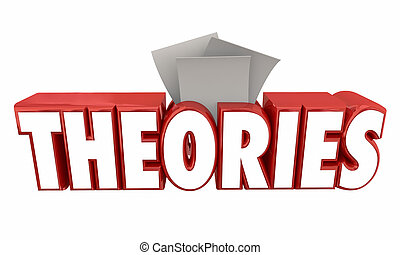 Theories Submit Ideas Guesses Word 3d Illustration