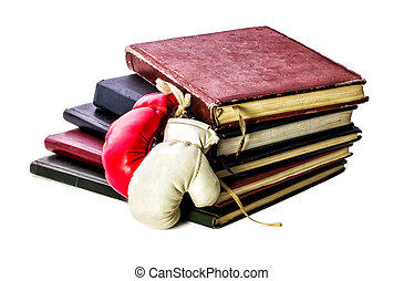 Theory and Practice! Books and Boxing Gloves