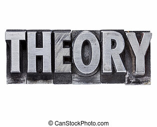 theory word in metal type