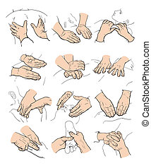 Therapeutic manual massage. Medical therapy - Hands doing...