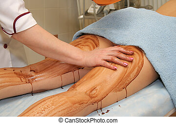 Therapeutic muds in a modern beauty salon