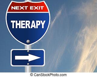 therapie, straße zeichen