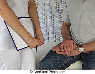 Therapist and male client