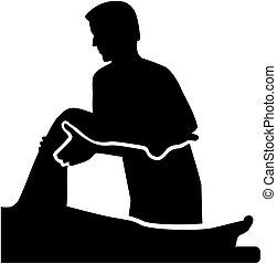 therapist, patiënt, lichamelijk