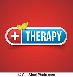 Therapy button vector logo