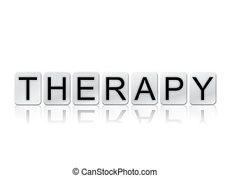 Therapy Isolated Tiled Letters Concept and Theme