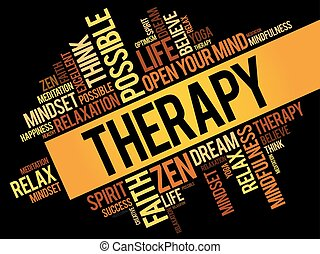 Therapy word cloud collage