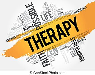 Therapy word cloud