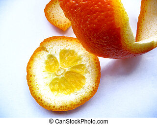 orange peel - There are orange peel on white background