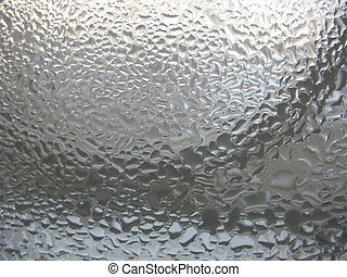window glass and water drops