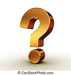 question mark - There is a 3D question mark