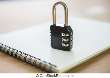 There is a lock, meaning privacy notebook
