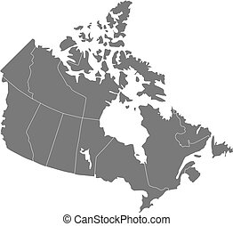 Canada - There is a map of Canada country