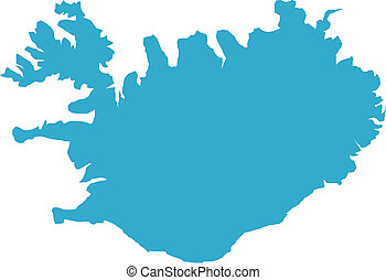 Iceland country - There is a map of Iceland country
