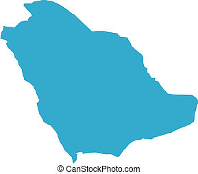 Saudi Arabia country - There is a map of Saudi Arabia...