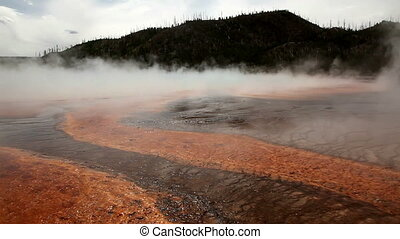Thermal Hot Pools in Yellowstone National Park