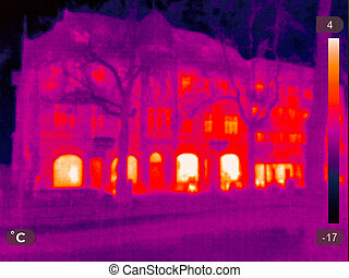 Thermal Image of a small town