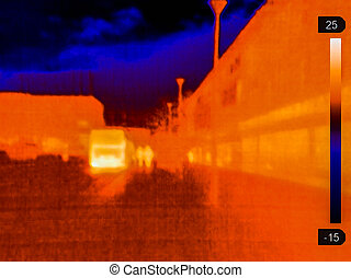 Thermal image of bus