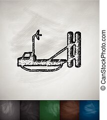 thermal imager icon. Hand drawn vector illustration....