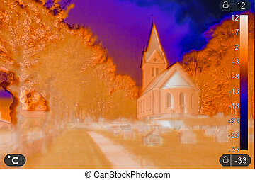 Thermal images of a church