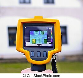 Thermal Imaging Detection - Recording Heat Loss of the House...