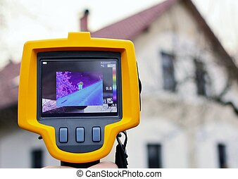 Thermal Imaging Detection - Recording Heat Loss of the Roof...
