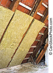 thermal insulation in a roof