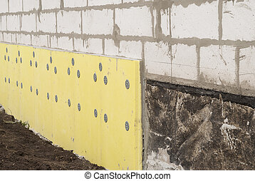 thermal insulation of the foundation