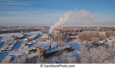 Thermal power plant, boiler house. - Boiler room in the...