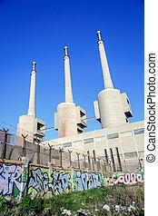 Thermal power plant in Sant Adria (Barcelona), Catalonia,...